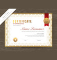 certificate award diploma template with gold
