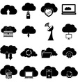 Cloud computing icons set vector image