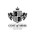 coat of arms heraldic luxury logo design concept vector image