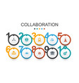 collaboration infographic design template teamwork vector image vector image