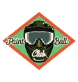 Color vintage paintball emblem vector image vector image