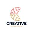creative color letter c group logo design letter vector image