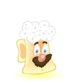 cute drunk beer mug vector image