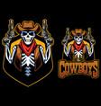 dead cowboys mascot vector image