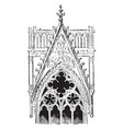 decorative gable from cologne cathedral germany vector image vector image