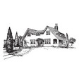 double gables glazed gables vintage engraving vector image vector image
