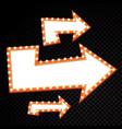 electric bulbs billboard retro arrow light frames vector image