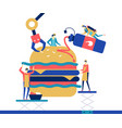fast food - flat design style colorful vector image vector image