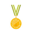 first place golden medal icon vector image vector image