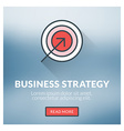 Flat design concept for business strategy w vector image