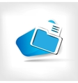 Folder web icon vector image