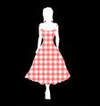 gingham night out vector image vector image