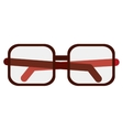 glasses optical flat icon vector image