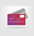 gradient credit card with vector image vector image