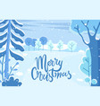 greeting holiday postcard merry christmas vector image vector image
