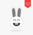 Happy rabbit icon Flat design gray color symbol vector image vector image