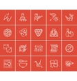 Hobby sketch icon set vector image