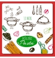 Home Made Pasta Recipe vector image vector image