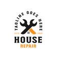 house repair logo template vector image vector image