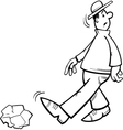inattentive man coloring page vector image vector image