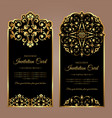 invitation card design - luxury vintage style vector image