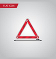 isolated emergency stop flat icon warning vector image