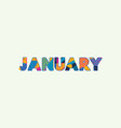 january concept word art vector image vector image