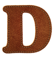 Leather textured letter D vector image vector image