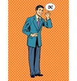 Man businessman says okay business success concept vector image vector image