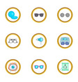 ophthalmology equipment icons set cartoon style vector image vector image
