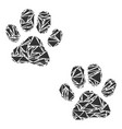 paw footprints collage of triangles vector image vector image