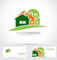 Real estate house logo icon vector image vector image