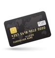 Realistic Black Credit card isolated on white vector image