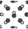 safe combination lock wheel icon seamless pattern vector image vector image
