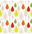 seamless autumn vegetable pattern vector image vector image