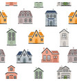 seamless pattern with country houses vector image vector image