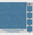 Seamless Square Backgrounds vector image