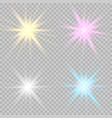set glowing lights effects vector image