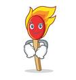 smirking match stick character cartoon vector image vector image