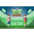 Soccer Match Scoreboard on a Playfield vector image