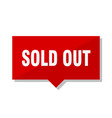 sold out red tag vector image vector image