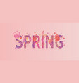 spring card papercut style vector image vector image