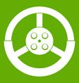 steering wheel icon green vector image