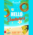 summer beach vacation club poster vector image vector image