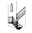 the staircase in the room vector image