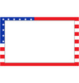 united states flag border vector image vector image