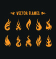 vecstor fire icons vector image vector image