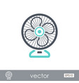 ventilator outline icon summer vacation vector image