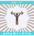 weightlifting dumbbell training icon graphic vector image vector image