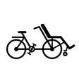 wheelchair bike vector image vector image
